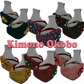 Gorgeous Kimono   --  OKOBO Clogs -- 6 set