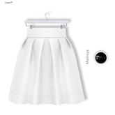 Gawk! Casual High Waist Skirt (Mesh) - White