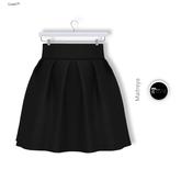 Gawk! Black Short High Waist Skirt (Mesh) - for Maitreya Mesh Body