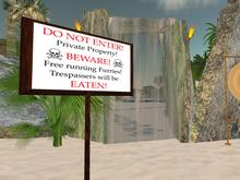 """Sign """"Private Property - Furries"""""""