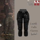 Legal Insanity - Jane army pants black