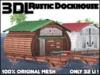 3DL - Rustic Dock House (32LI - 100% Mesh)