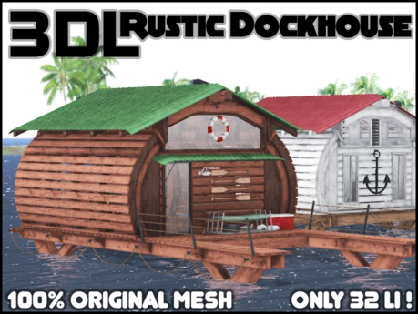 3DL - Rustic Dock House (32LI - 100% Mesh)