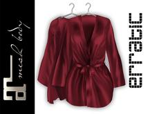 erratic / allure - satin robe / crimson (maitreya)