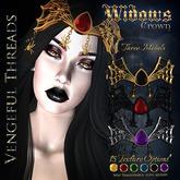 Vengeful Threads -Original Mesh-Widows Crown With Texture Change Hud
