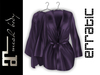 erratic / allure - satin robe / plum (maitreya)