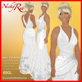 """""""Nicky Ree Gowns"""" Constellations - Wish Gown (White)"""