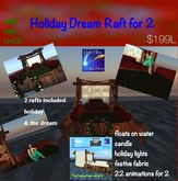 2 Floating rafts  Holiday & Dream Raft for 2 (crate)