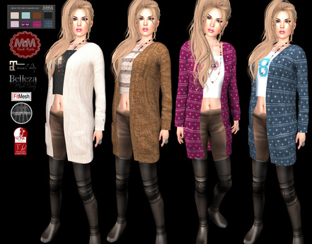 M&M-ALBA CARDIGAN WITH PANT AND BOOTS-N