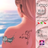 - SAM TATTOO - MUSIC HEART