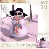 ~ASW~ The Hipster Snow Person ~Sunglasses