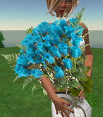 Bouquet of sky roses