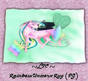 ~LTC~ Rainbow Unicorn Rug (PG) Box