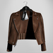 Emery Tete Leather Jacket Over Shoulders Choco