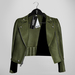 Emery Tete Leather Jacket Over Shoulders Olive