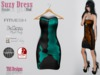 Suzy dress puzzle teal