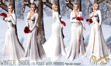 Opulence Poses - Winter Bride Pose Pack w/ Bouquet [ 5 Poses With Mirrors ]