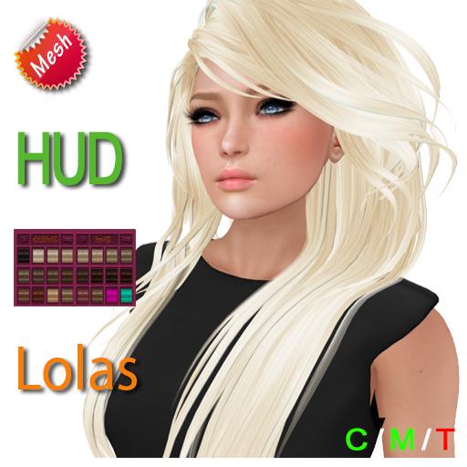 "eDeLsToRe woman mesh hair "" Isabel "" incl 24 color HUD unrigg + Lola version"