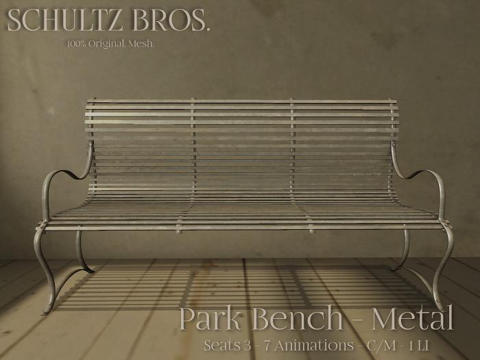 [Schultz Bros.] 1 Prim Park Bench - Metal
