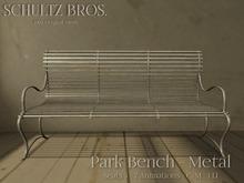 [Schultz Bros.] Park Bench - Metal