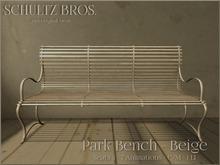 [Schultz Bros.] Park Bench - Beige