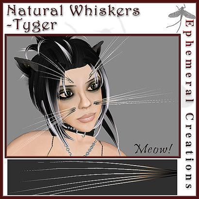 Ephemeral Neko - Natural Whiskers - Tyger