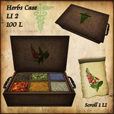 Herbs Case for Healer, Apothecary, Physician, Medieval.