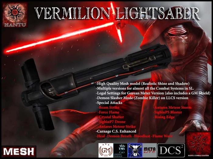 [Hantu Demon] Vermilion Lightsaber DCS/CCS/Hantu C.S./GM/LLCS/URA