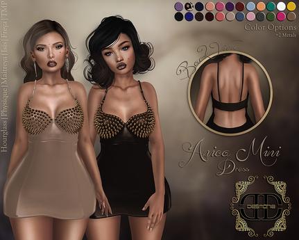 -Desmonia- Anica Mini Dress w/ Spikes Fatpack (Wear Me)