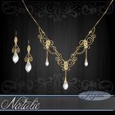 ::: Krystal ::: Natalie - Jewelry Set - Gold - Topaz