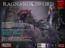 Ragnarok Sword - [Clearance Sale] up to 50% off - Hantu Demon Creations
