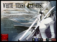 White Tensa Zangetsu - [Clearance Sale] up to 50% off - Hantu Demon Creations