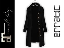 erratic / oksana - open trench coat / black (maitreya)