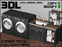 3DL - Laundry Room Set (2 Prims - 100% Mesh)