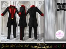 Joshua Mesh Mens Suit  Red
