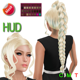 "eDeLsToRe woman mesh hair "" Gini "" incl all 24 color HUD long ponytail hair Zopf Pferdeschwanz"