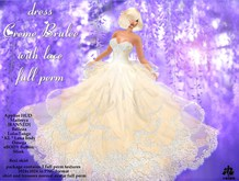 !.: CHARM:.   dress Creme Brulee with lace full perm