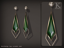 (Kunglers) Fatima earring - emerald