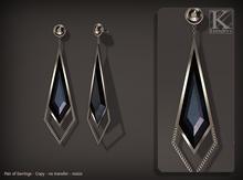 (Kunglers) Fatima earring - obsidian