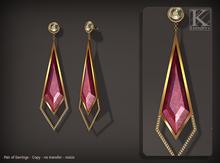 (Kunglers) Fatima earring - ruby
