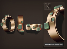 (Kunglers) Monica bracelets and ring - copper