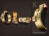 (Kunglers) Monica bracelets and ring - golden