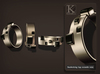 (Kunglers) Monica bracelets and ring - Obsidian
