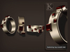 (Kunglers) Monica bracelets and ring - ruby