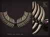 (Kunglers) Shena necklace - obsidian