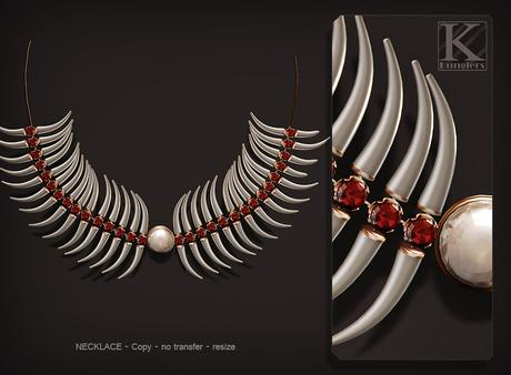 (Kunglers) Shena necklace - ruby