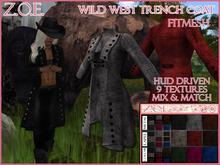 Z.O.E. Wild West Trench Coat FITMESH
