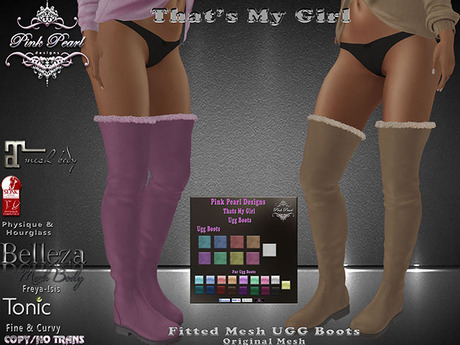 [PPD] Thats My Girl Thigh High Ugg Boots - Pastels