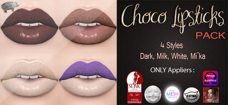 Mad' - Choco Lipsticks [PACK] [APPLIERS]