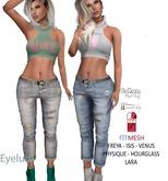 Eyelure Boyfriend Jeans   DirtyFaded/BabyBlue